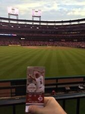 StL Cardinals vs Royal 8/10/17 2 Etickets Sec189 Front Row Aisle Bleacher Molina