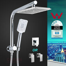 WELS Square 8''/9''/10'' Shower Head Handheld Diverter Wall Arm Mixer Tap Set