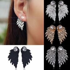Exquisite Fashion Alloy Earrings Women Modern Beautiful Feather Stud Earrings F7