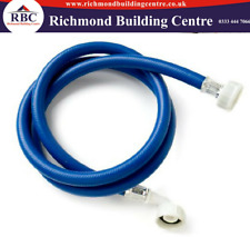 1.5M/ 2.5M BLUE WASHING MACHINE DISHWASHER INLET PIPE WATER FEED COLD FILL HOSE