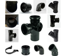SOIL PIPE BLACK 110MM, SOIL PIPE CLIP, 110MM TEE BRANCH, ELBOW BEND 90° DOUBLE