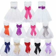 Flower Girls Kids Toddler Clothes Princess Party Wedding Tulle Tutu Dresses 2-14