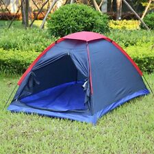 Two Person Tent Outdoor Camping Tent Kit Fiberglass Pole Water Resistance with C