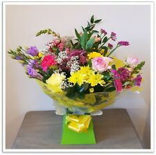 FRESH REAL FLOWERS  Delivered Rainbow All Occasions Selection Bouquet