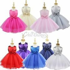 Flower Girls Dress Wedding Pageant Princess Sequin Dress Party/Bridesmaid/Prom