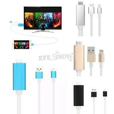 1PC Dock to HDMI HDTV TV Cable Adapter for iPhone iPad USB to 8PIN Connector NEW