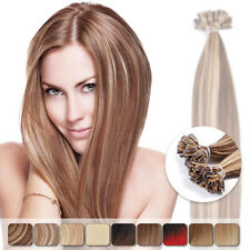 """20"""" 25s/lot 100% Remy Hair Extensions Pre Bonded U Nail Tip Straight Human Hair"""