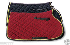 GEE TAC HORSE BEAUTIFUL NEW VELVET COMFORT NUMNAH CLOTH SADDLE PAD ALL SIZES