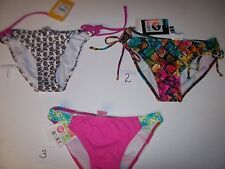 NEW Roxy bikini swimsuit bottom brown pink multi color sz Small 14.99 each