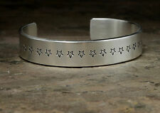 Massive Sterling Silver Wide Cuff Bracelet with stars