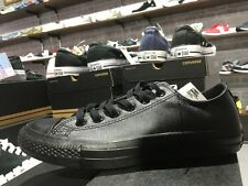 Converse Chuck Taylor All Star Leather Triple Black Mens Casual Shoes 1T865