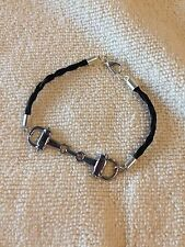 Silver snaffle bit braided horse hair bracelet.Your horse's hair or stock hair.
