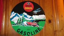 RARE VINTAGE SIGNAL PURR PULL GASOLINE METAL SIGN GAS STATION PUMP PLATE