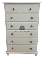CHEST OF DRAWERS PAINTED UK GRANTHAM HANDMADE - ASSEMBLED - NO FLATPACK