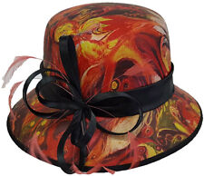 Swan Hat,.Church, Kentucky Derby, Carriage, Wedding Tea, Novelty Painted Hat-Red