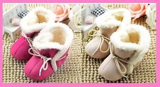 Baby Uggs booties leather suede booties fur boots lace up crib shoes baby shoes