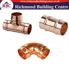YORKSHIRE PLUMBING 15MM COPPER FITTINGS SOLDER RING,COUPLING, ELBOW,TEE PACK 10