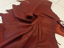 Lambskin Genuine Leather Hide Rusty Red 2 oz.Soft Finish Beautiful Hide