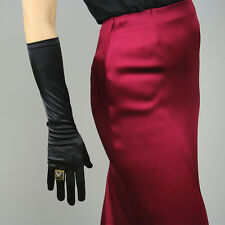 Stretchy Satin Silk Gloves Opera Evening Elbow Wrist Long Short Hepburn Black