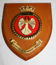 WALL PLAQUE H.M.S. VICTORIOUS HMS GIEVES BRITISH NAVY LONDON UNITED KINGDON