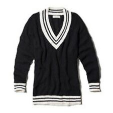 New Abercrombie & Fitch by Hollister Womens Maya Varsity Sweater Navy XS/S M/L