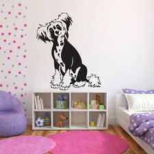 Chinese Crested Dog Portrait Canine Pet Dogs Wall Stickers Home Decor Art Decals