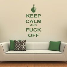 Keep Calm And F**K Off Keep Calm Quotes Wall Stickers Home Decor Art Decals