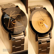 Luxury Men Women Watch Compass Stainless Steel Quartz Analog Dress Wrist Watches