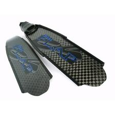 C4 Carbon Fins Blue Flap HT Spearfishing Freediving Snorkeling Diving Apnea