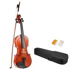 Hot ammoon Full Size 1/4 1/2 3/4 4/4 Solid Wood Violin +Case Bow Rosin A2P1
