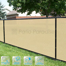 Customized Privacy Screen Fence Windscreen Garden Fabric Shade Beige 4'FT 51-100