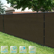 Customized Privacy Screen Fence Windscreen Garden Fabric Shade Brown 4'FT101-150