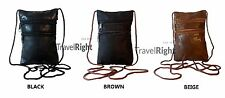 Real Nappa Leather Neck Purse / Bag, Shoulder Across Body Travel Bag.