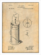 1884 Caryl Fire Extinguisher Patent Print Art Drawing Poster 18X24