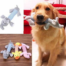Soft Pet Puppy Chew Squeaker Squeaky Plush Sound Pig Elephant Duck Dog Toys F7