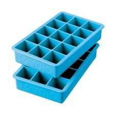 Tovolo Ice Blue Perfect Cube Ice Trays Set of 2 Kitchen