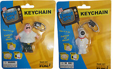 Family Guy Key Chain Keyring Peter or Brian the Dog TV Collectable Figure