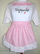 BRIDESMAID PARTY APRONS for Bridal Showers Made to order Avaiable most colour