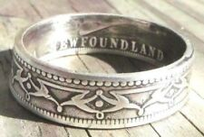 Coin Rings Made From 1875-1900 Newfoundland 50 Cents Sizes 6 thru 14
