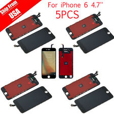 LOT 5 For iPhone 6 LCD Lens Touch Screen Display Digitizer Assembly Replacement