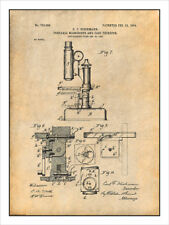1904 Dieckmann Portable Microscope Patent Print Art Drawing Poster 18X24