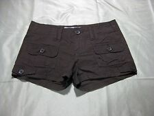Womans Juniors American Rag Low Rise Stretch Cargo Shorts Brown Size 1 NWOT