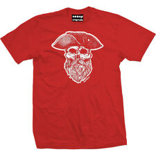 Men's Aesop Originals Ye Olde Salty Dog Pirate Captain T-Shirt Red Sailor Skull