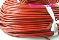 100M RED Real Leather Thread Cord For Necklace Bracelet without clasps Strands