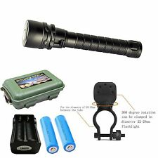 CREE XM-L T6 LED Diving Flashlight Torch Scuba Lamp Light Underwater 100m EB