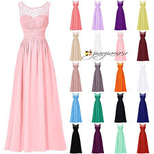 New Stock Formal Long Bridesmaid Dresses Prom Party Evening Ball Gowns Size 6-20