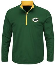 Green Bay Packers NFL Mens Majestic Therma Base 1/4 Zip Fleece Big & Tall Sizes