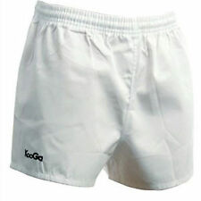 KOOGA MURRAYFIELD 100% COTTON RUGBY SHORTS - WHITE. FREE POSTAGE.