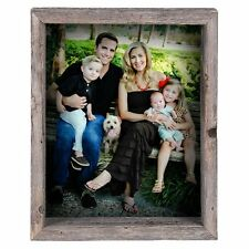 BarnwoodUSA Rustic Reclaimed Wood Shadow Box, Collectible Picture Frame