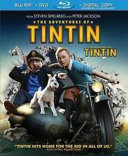 Adventures of Tintin (Blu-ray ONLY... NO DVD)NO CASE COMES IN PLAIN WHITE SLEEVE